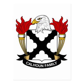 Calhoun Family Crest Postcard