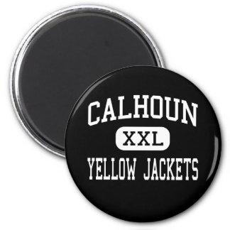 Calhoun - Yellow Jackets - High - Calhoun Georgia Fridge Magnet