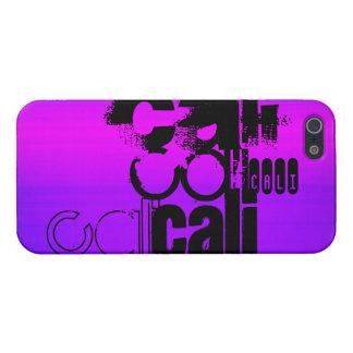 Cali; Azul violeta y magenta vibrantes iPhone 5 Carcasas