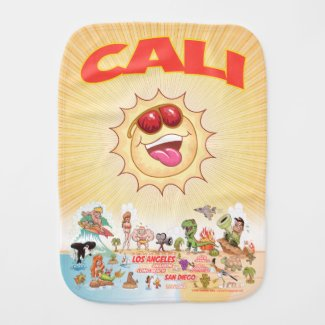 Cali Beach Life Burp Cloth