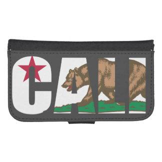 Cali California Flag Samsung S4 Wallet Case