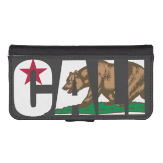 Cali California Flag Wallet Phone Case For iPhone SE/5/5s