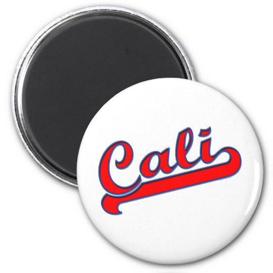 Cali California Logo Red Blue Magnet