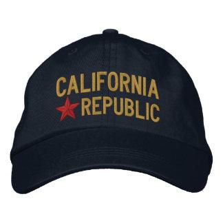 Cali California Republic STAR Embroidery Embroidered Baseball Hat