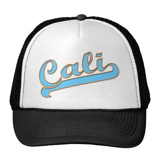 Cali California Surfer Logo in Blue Hat