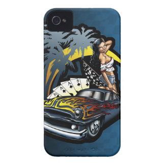 Cali Dreamin' Hot Rod Pin Up Girl iPhone 4 Case-Mate Case