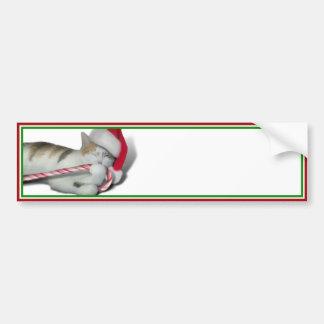 Cali, el gatito del bastón de caramelo del navidad pegatina para coche