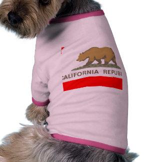 cali flag doggie t-shirt