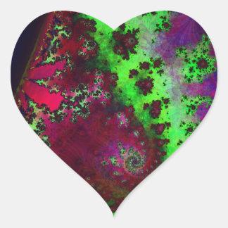 Cali-Fractal Heart Sticker