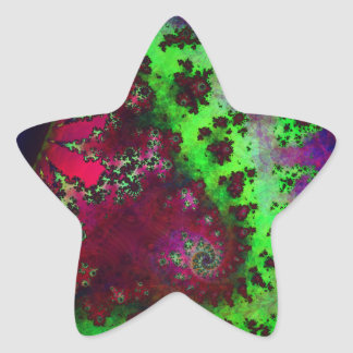 Cali-Fractal Star Sticker
