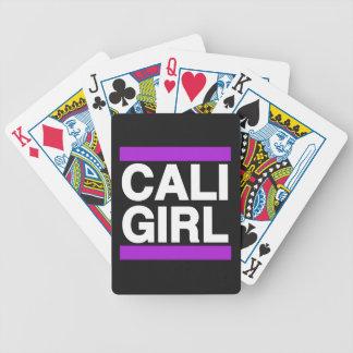 Cali Girl Purple Bicycle Playing Cards