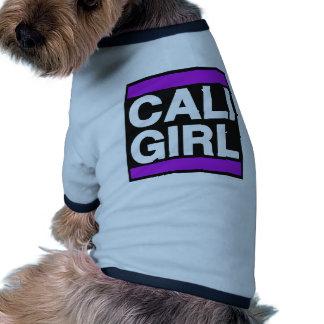 Cali Girl Purple Dog T-shirt