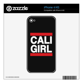 Cali Girl Red iPhone 4S Decals