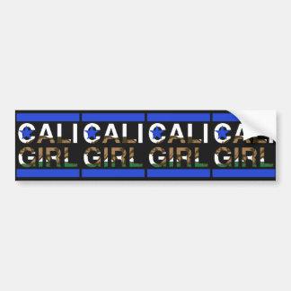 Cali Girl Rep Blue Bumper Sticker