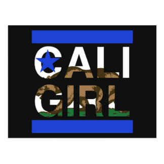Cali Girl Rep Blue Postcard