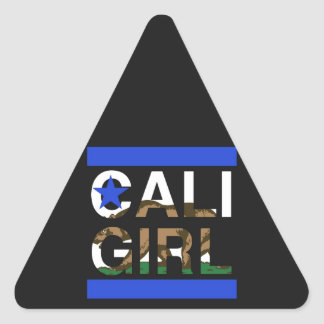 Cali Girl Rep Blue Triangle Sticker