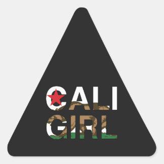 Cali Girl Rep Clear Triangle Sticker