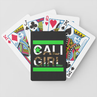 Cali Girl Rep Green Bicycle Playing Cards