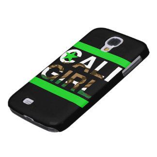 Cali Girl Rep Green Galaxy S4 Cases