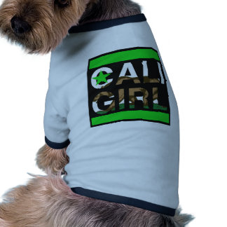 Cali Girl Rep Green Dog Tee