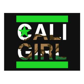 Cali Girl Rep Green Postcard