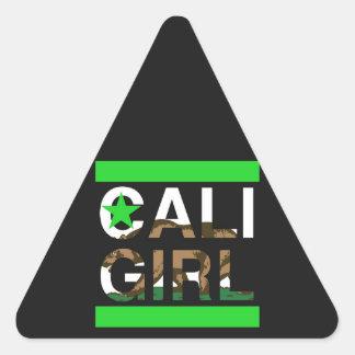 Cali Girl Rep Green Triangle Sticker