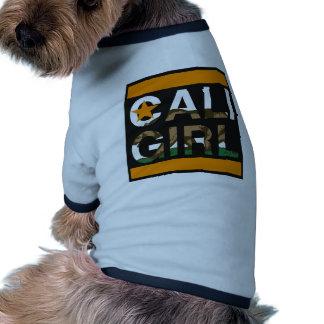 Cali Girl Rep Orange Doggie Tee