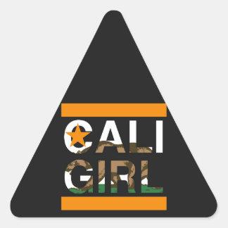 Cali Girl Rep Orange Triangle Sticker