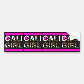 Cali Girl Rep Pink Bumper Sticker