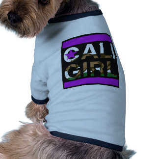 Cali Girl Rep Purple Dog T-shirt