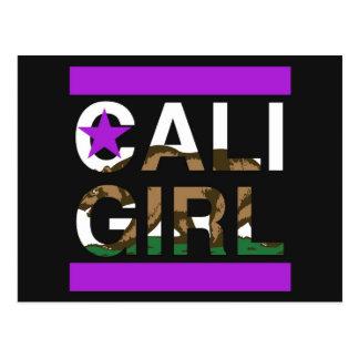 Cali Girl Rep Purple Postcard