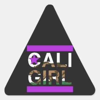 Cali Girl Rep Purple Triangle Sticker