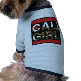 Cali Girl Rep Red Doggie Shirt