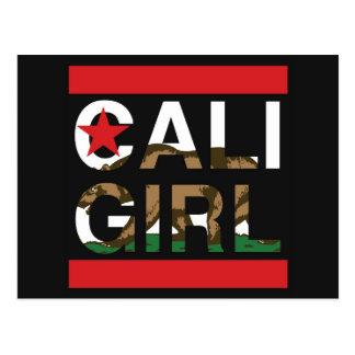 Cali Girl Rep Red Postcard