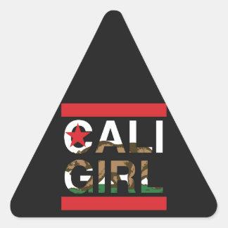 Cali Girl Rep Red Triangle Sticker