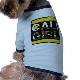 Cali Girl Rep Yellow Doggie T Shirt