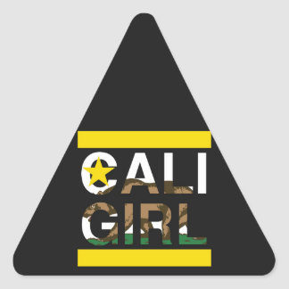 Cali Girl Rep Yellow Triangle Sticker