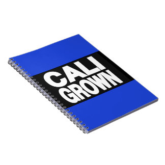Cali Grown 2 Blue Spiral Note Book