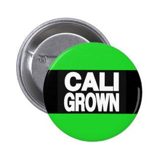 Cali Grown 2 Green Pinback Button