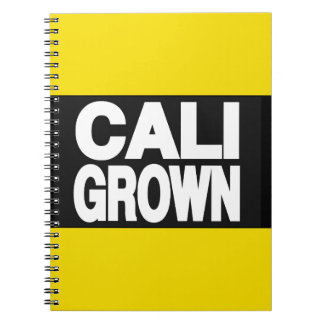 Cali Grown 2 Yellow Spiral Note Book