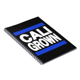 Cali Grown Blue Spiral Note Book