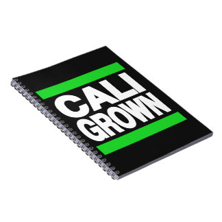 Cali Grown Green Note Book