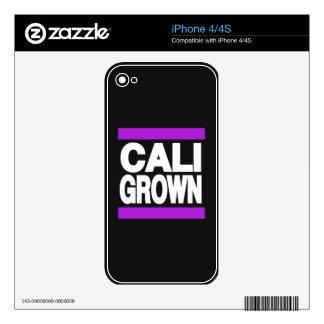 Cali Grown Purple iPhone 4S Decal