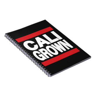Cali Grown Red Note Book