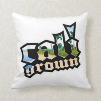 Cali Grown White and Black Pillow