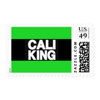 Cali King 2 Green Postage Stamp