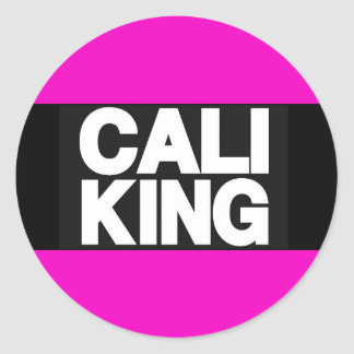 Cali King 2 Pink Classic Round Sticker