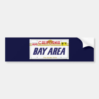 Cali License Plates Bumper Sticker