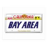 Cali License Plates Postcard