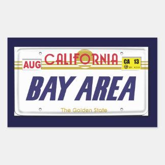 Cali License Plates Rectangular Sticker